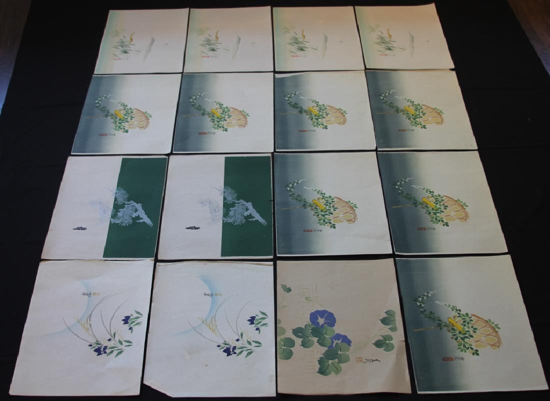LOT OF (89) VINTAGE JAPANESE PAINTINGS ON PAPER