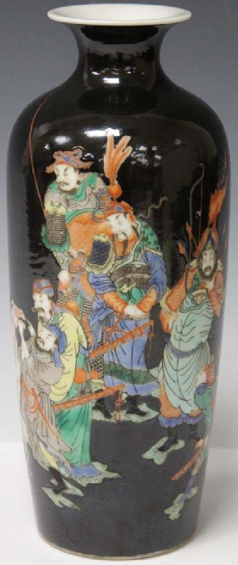 "CHINESE PORCELAIN VASE W/ PAINTED SCENE, 11 3/4"" H"