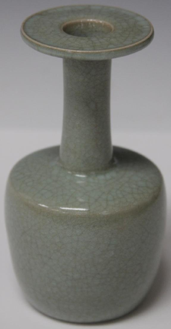 "CHINESE CELADON POTTERY VASE, 7"" H"