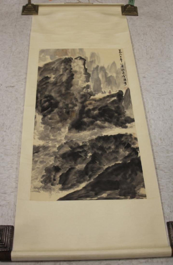 VINTAGE CHINESE SCROLL PAINTING