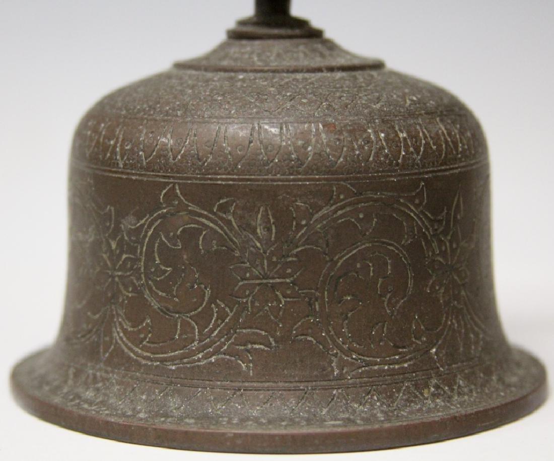 LOT: CHINESE CAST METAL DOOR KNOCKER & THAI BELL - 5