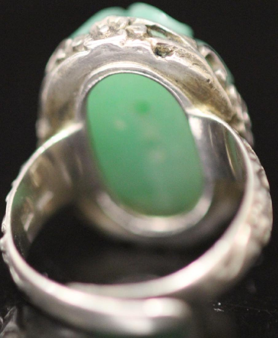 LOT OF (4) CHINESE GREEN JADE JEWELRY - 8