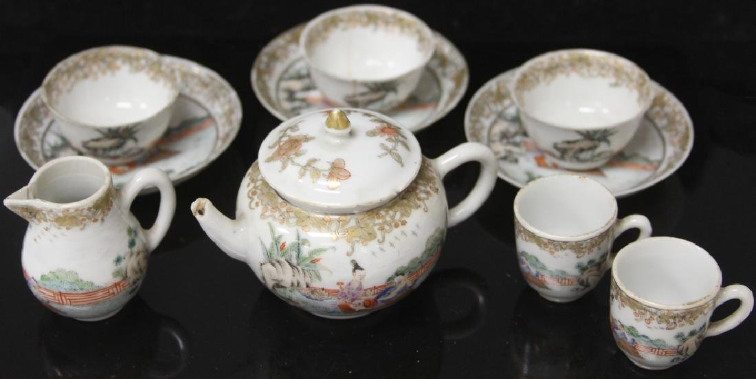 (10) PC. CHINESE PORCELAIN PAINTED TEA SERVICE SET