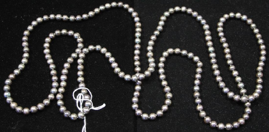 "BLACK PEARL NECKLACE, 70"" L STRING"
