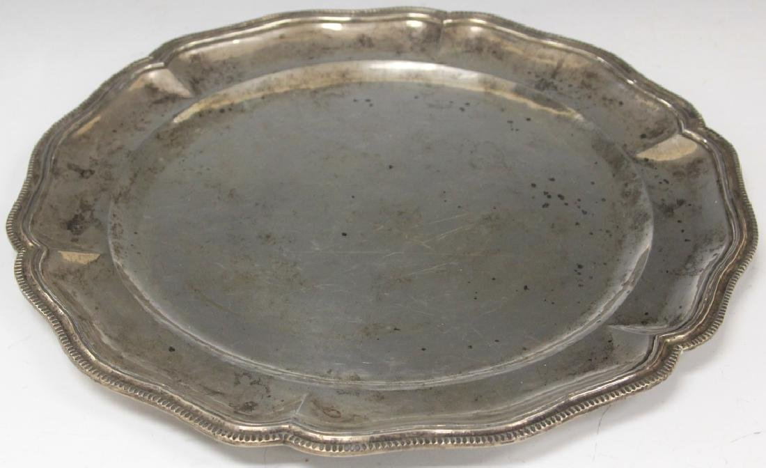 "EARLY MEXICAN .900 SILVER TRAY, 18"" L"