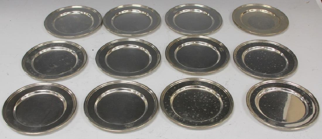 SET OF (12) STERLING SILVER TRAYS, INTERNATIONAL