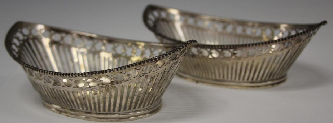 PAIR OF STERLING SILVER OPEN WORK BASKETS
