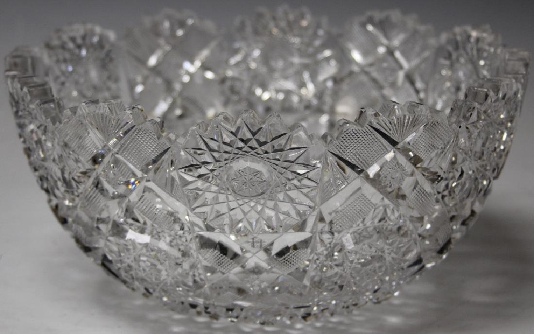 AMERICAN BRILLIANT CUT GLASS CENTER BOWL