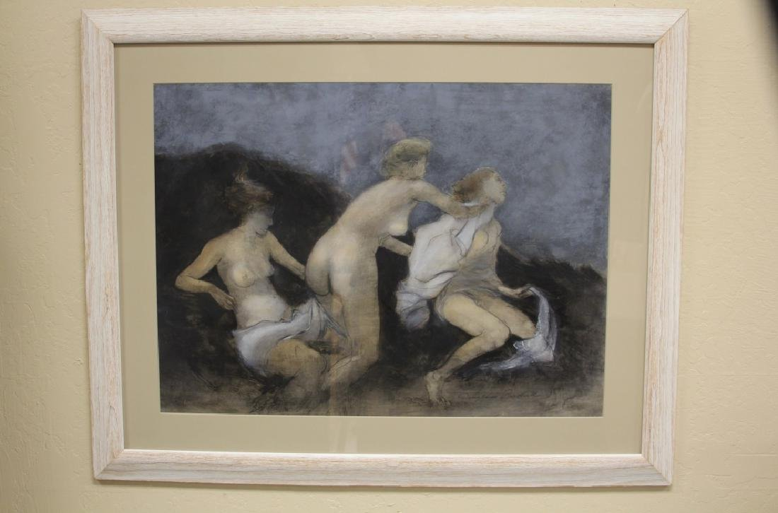 DOUGLASS PARSHALL (1899-1990) THREE GRACES, PASTEL