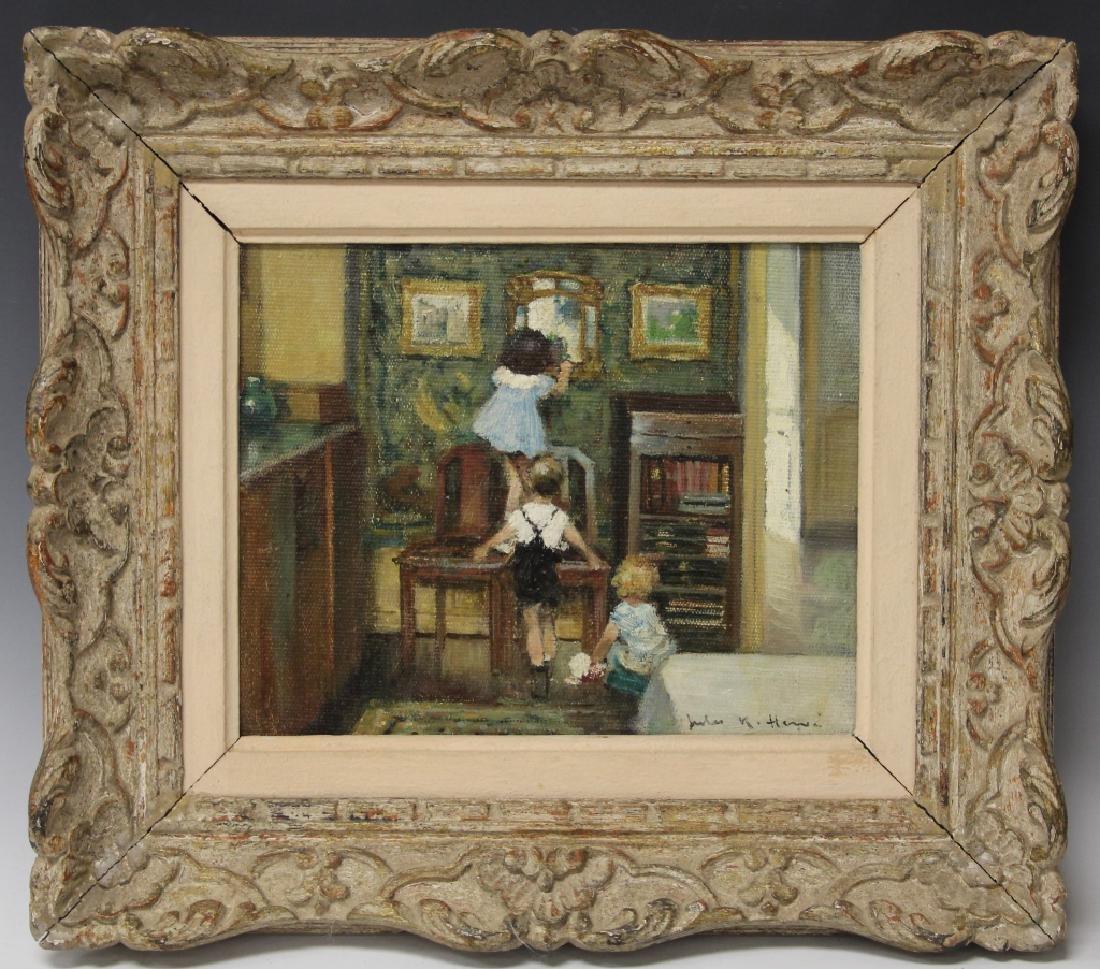 JULES RENE HERVE (1887-1981), FRAMED OIL ON CANVAS
