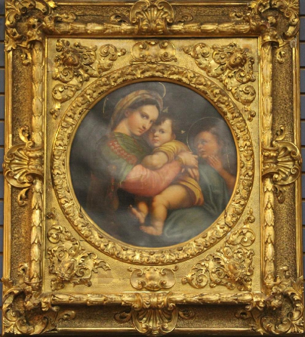 AFTER RAPHAEL SANZIO, MADONNA AND CHILD, 19TH C.