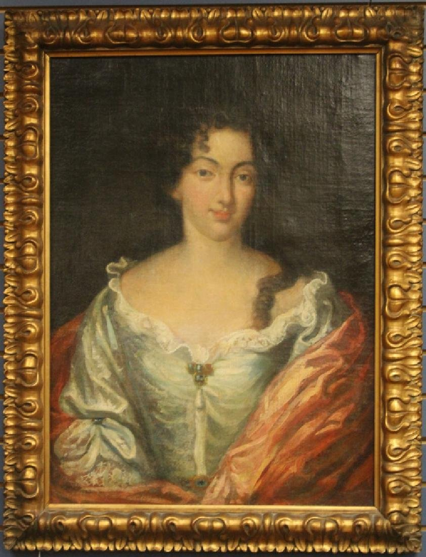 18TH C. OIL ON CANVAS PAINTING, PORTRAIT