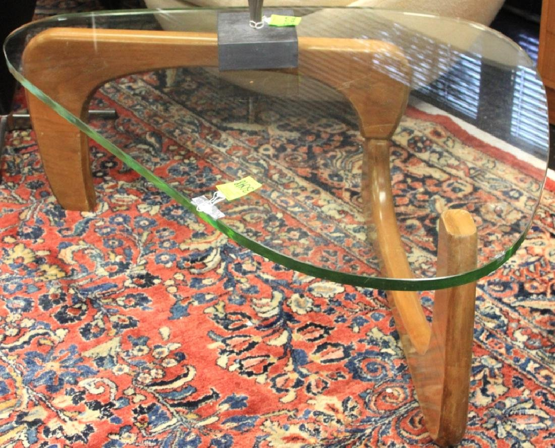MID-CENTURY GLASS COFFEE TABLE