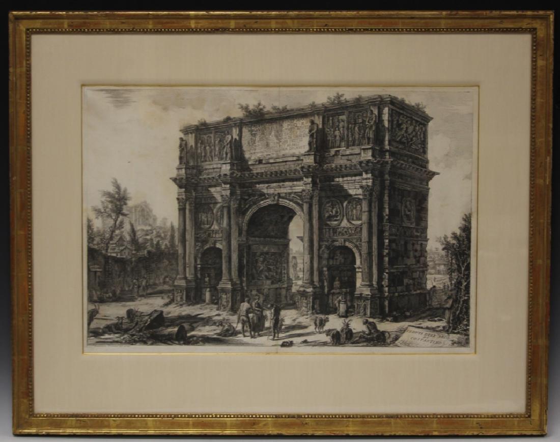 PAIR OF CAVALIER PIRANESI LITHOGRAPHS, 18TH C.
