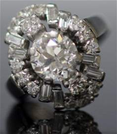 LADY'S 1.76 CT OLD EUROPEAN CUT DIAMOND 14KT RING