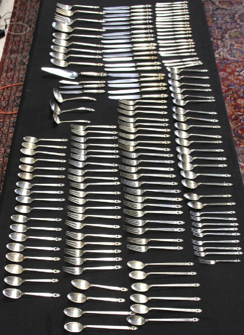 STERLING SILVER ROYAL DANISH FLATWARE SET