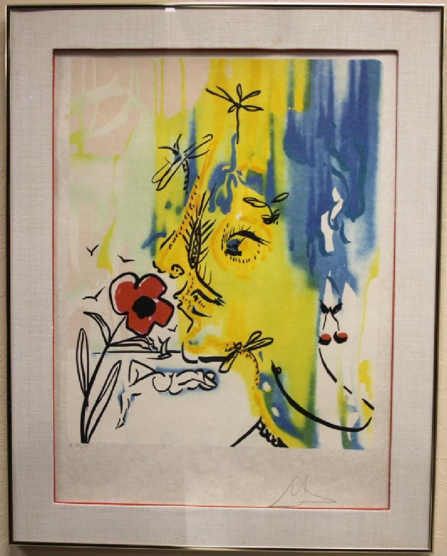 "SALVADOR DALI, ""VANISHING FACE"", PENCIL SIGNED"