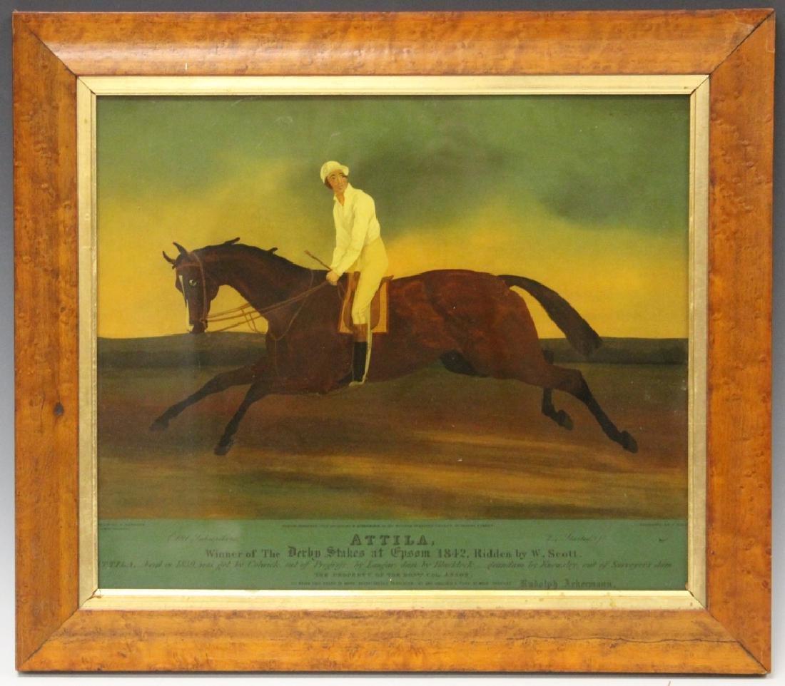 FRAMED VINTAGE HORSE RACING PRINT