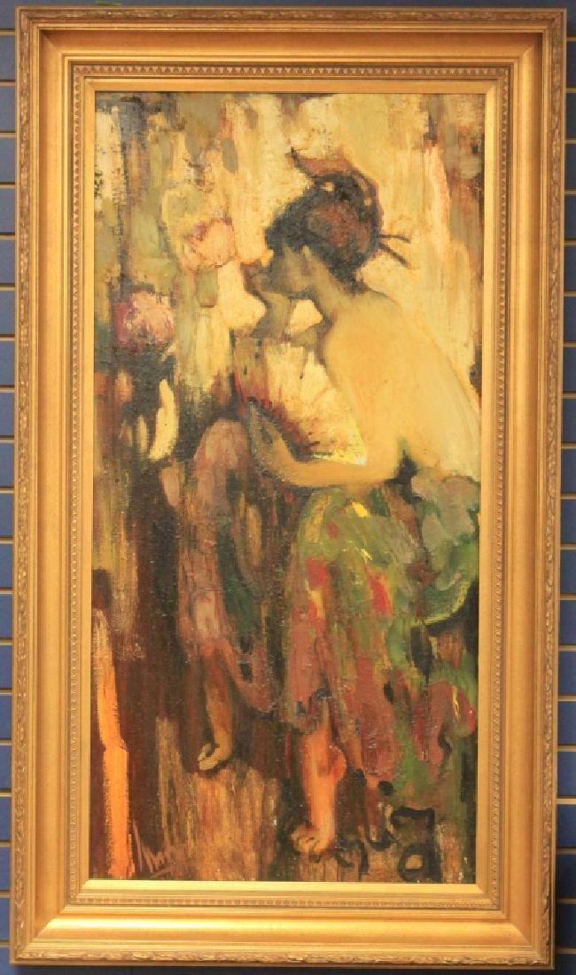 NIKOLAI LYSAK (B. 1951), FRAMED OIL ON CANVAS