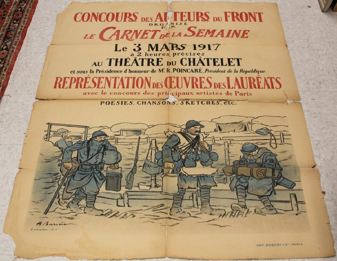 LOT OF (3) FRENCH WWI POSTERS