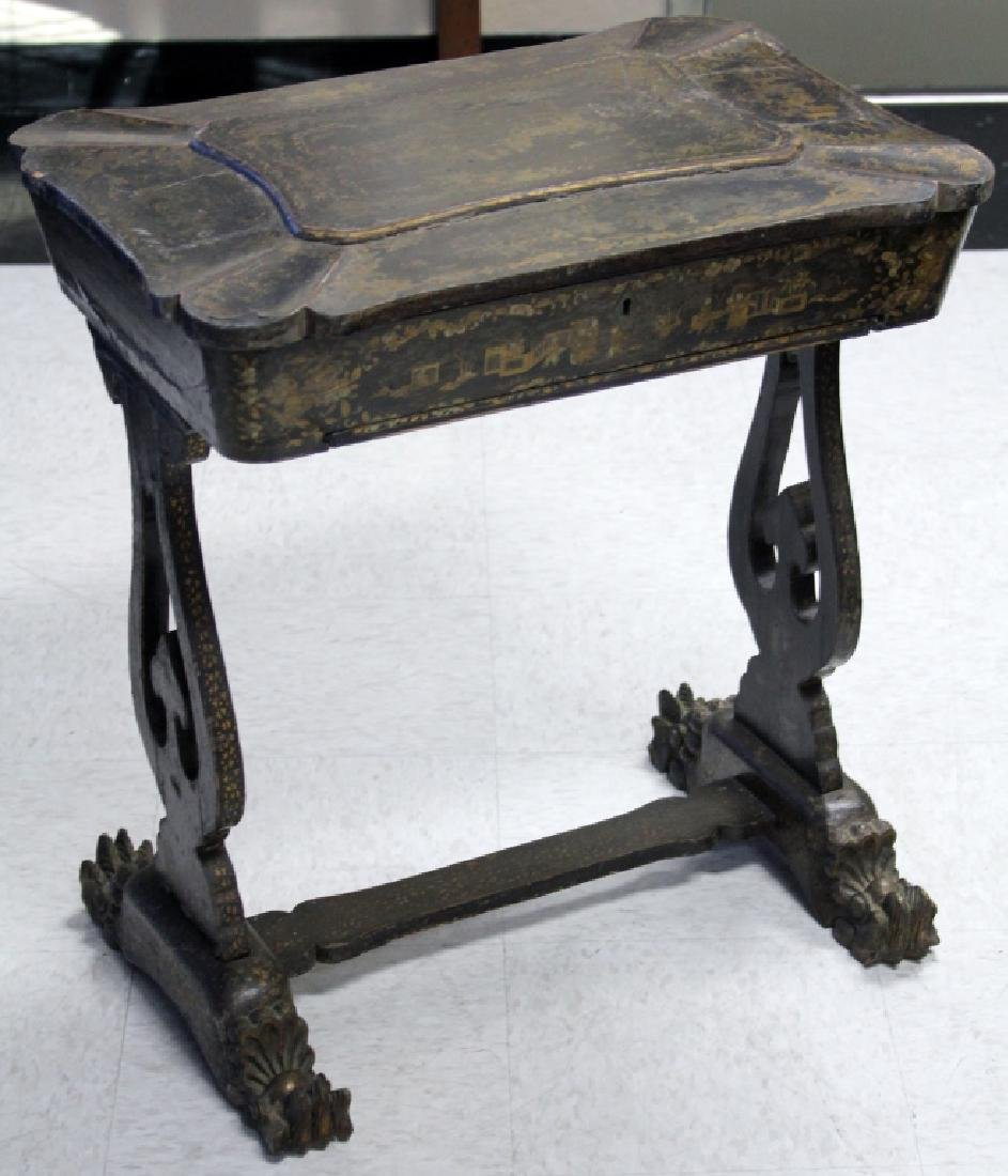 CHINESE 18TH/19TH CENTURY PAINTED SEWING CABINET
