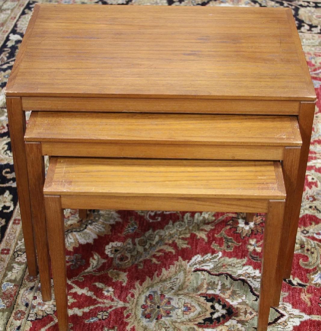 MID-CENTURY DANISH SET OF (3) NESTING TABLES