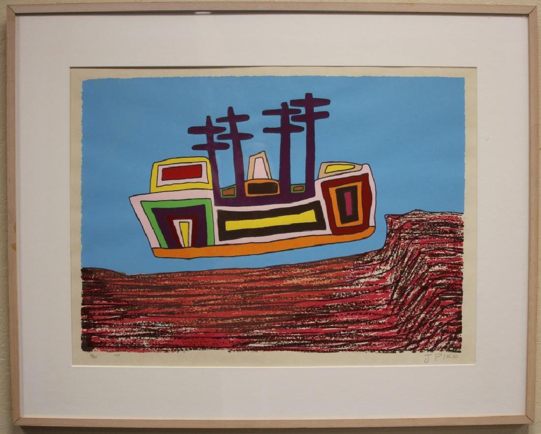 JIMMY PIKE (1940-2002), FRAMED LITHOGRAPH, 1987