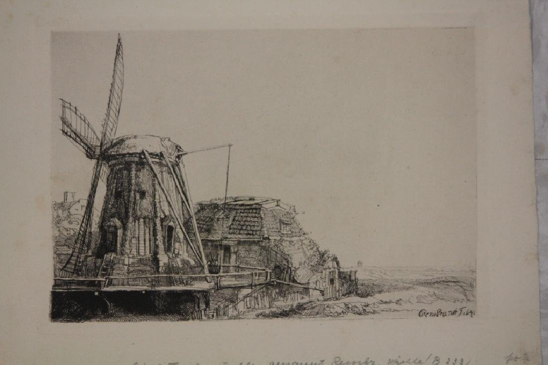 REMBRANDT ETCHING, WINDMILL
