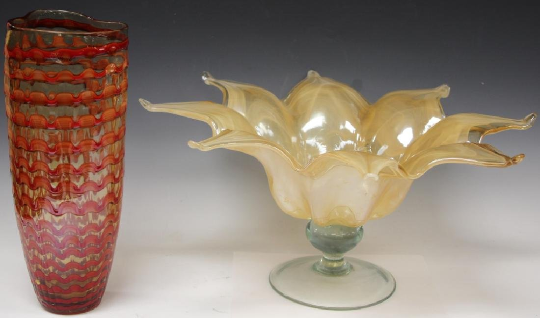 LOT OF (2) VINTAGE ART GLASS, INCL. (1) MURANO