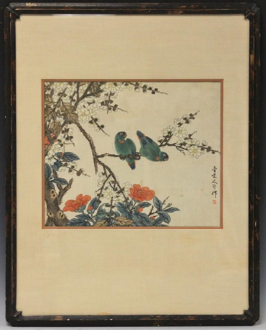 VINTAGE CHINESE WATERCOLOR, FRAMED - 2