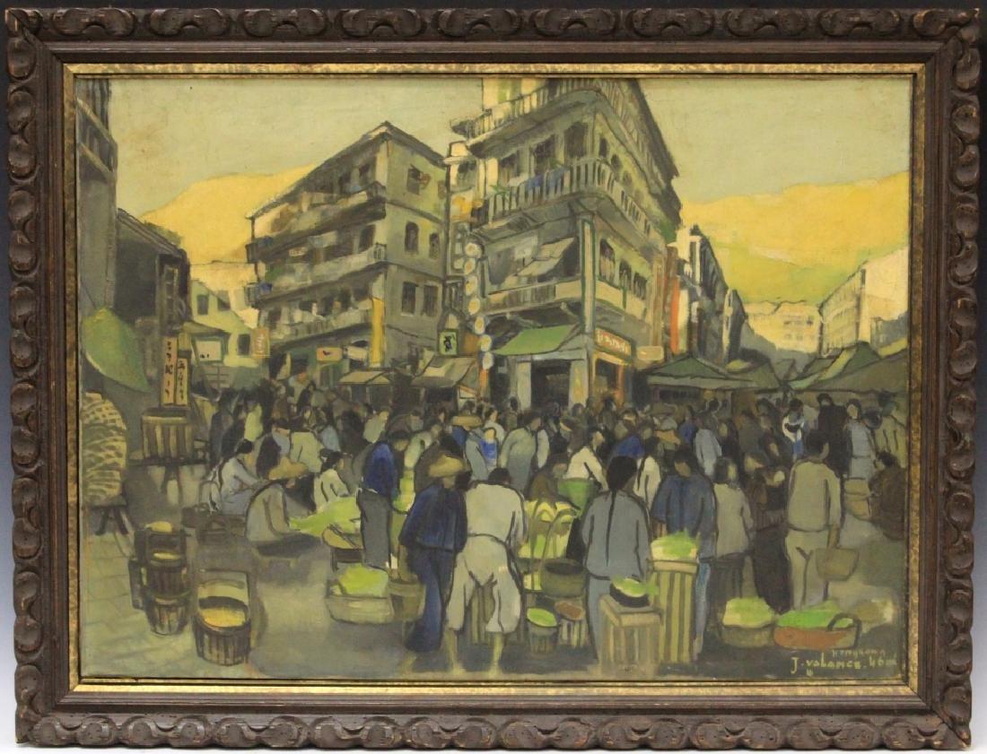 J. VALANCE, HONG KONG, 1946, OIL ON CANVAS