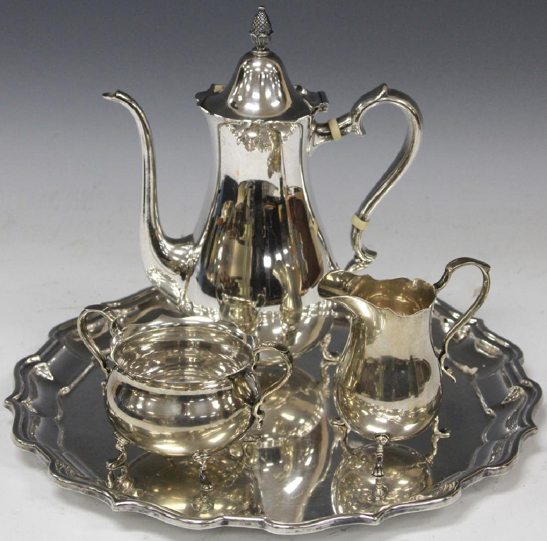 (3) PIECE STERLING SILVER TEA SET & TRAY