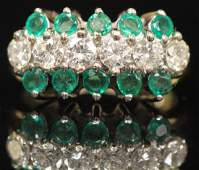 LADYS DIAMOND  EMERALD 14KT GOLD RING