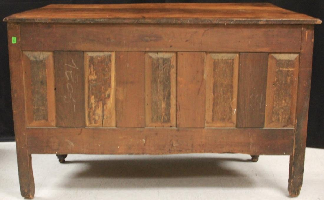 FRENCH 18TH C. CARVED WALNUT COMMODE - 5