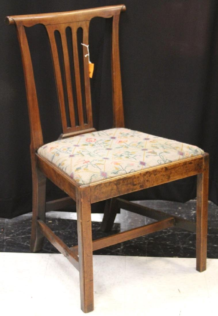 18TH C. AMERICAN CHIPPENDALE SIDE CHAIR