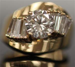 LADY'S 2 CT. SOLITAIRE DIAMOND 14KT RING