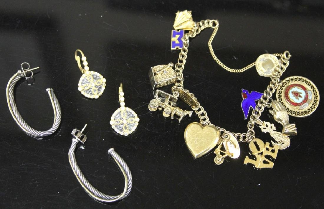 LOT OF (3) JEWELRY INCL. 14KT & STERLING