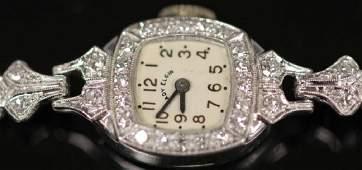 ELGIN LADY'S DIAMOND 14KT GOLD WRIST WATCH