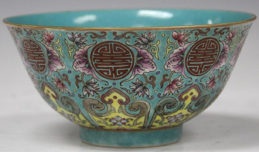 CHINESE PORCELAIN PAINTED BOWL W/ STAMP MARK