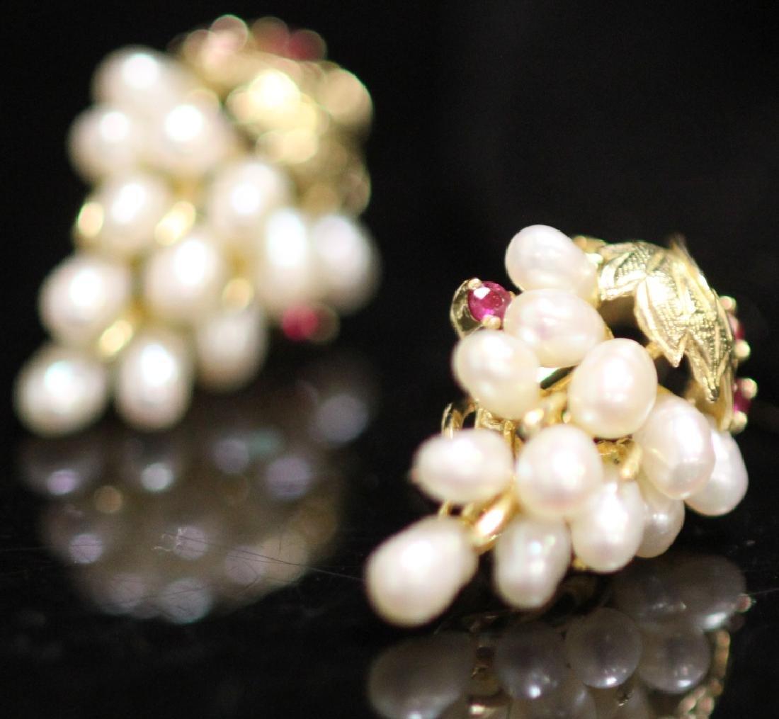 LADY'S 14KT GOLD EARRINGS, RING & PENDANT SET - 2