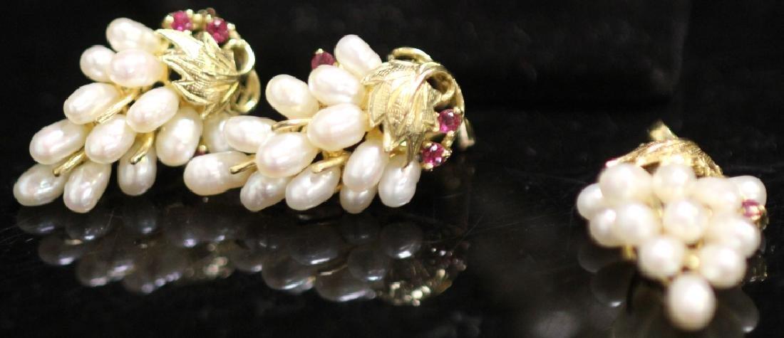 LADY'S 14KT GOLD EARRINGS, RING & PENDANT SET - 3