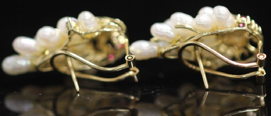 LADY'S 14KT GOLD EARRINGS, RING & PENDANT SET - 5