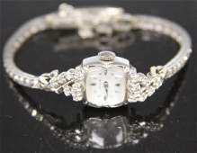 ELGIN LADY'S DIAMOND 14KT GOLD WRISTWATCH