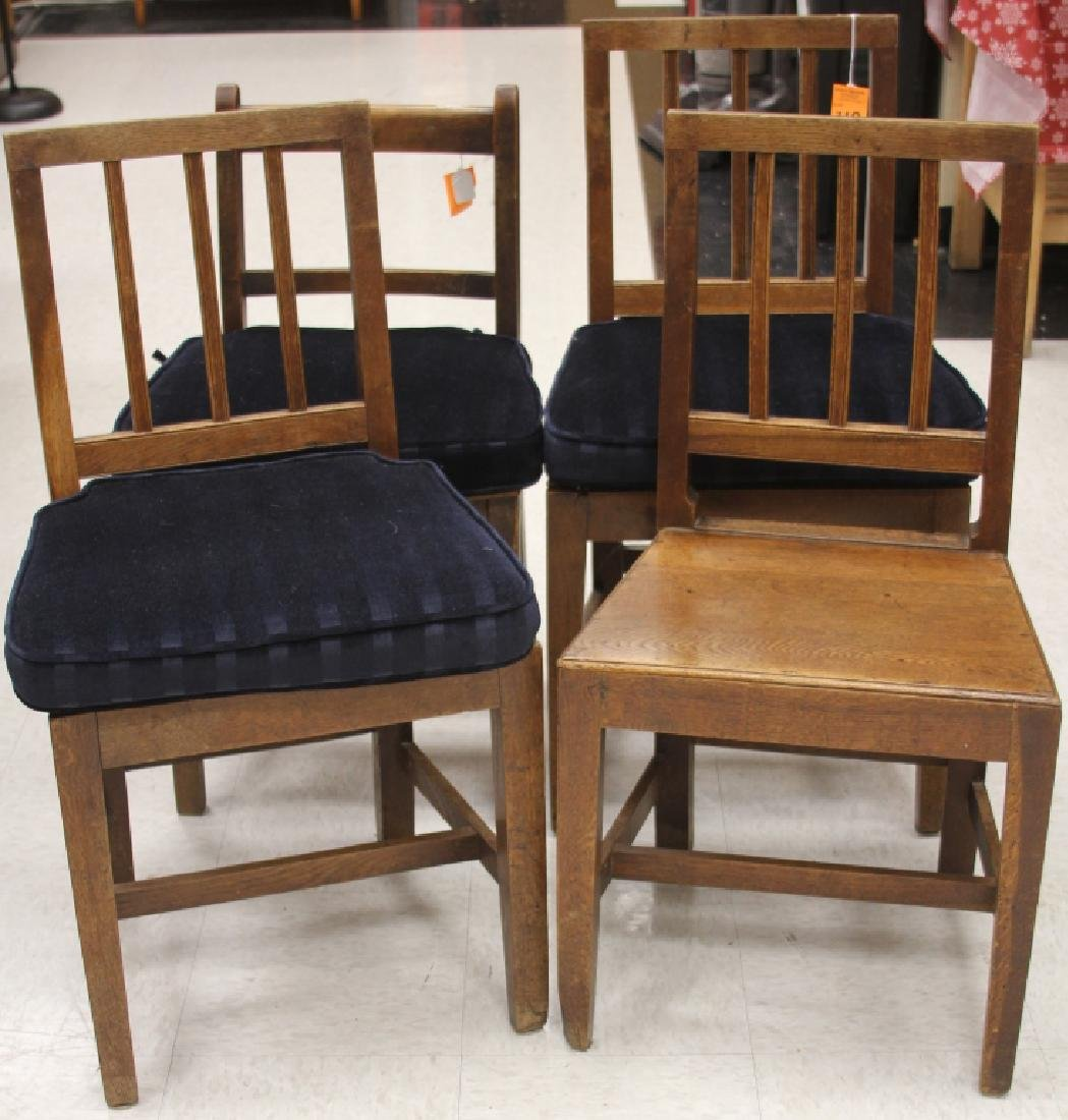 LOT OF (4) 19TH C. WALNUT SIDE CHAIRS