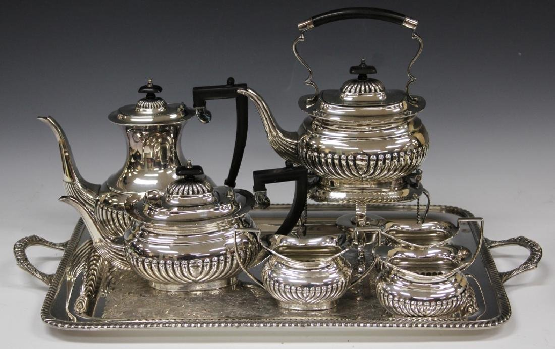 SILVER PLATED (7) PC. COFFEE & SERVICE SET