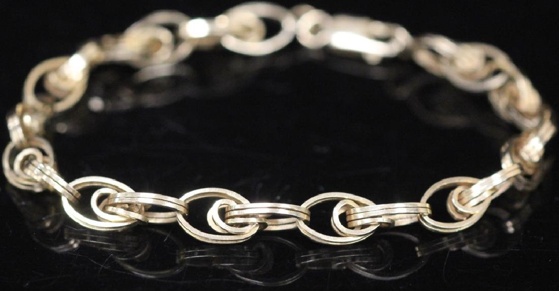 LADY'S 14KT GOLD CHAIN LINK BRACLET, 10.6 GRAMS