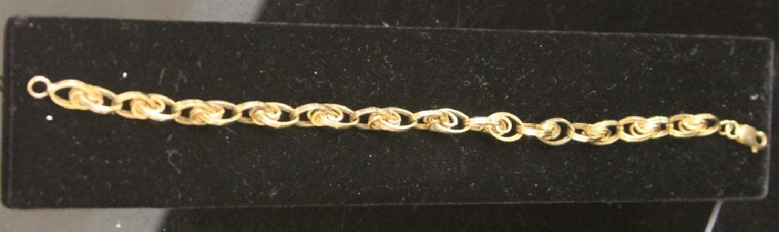 LADY'S 14KT GOLD CHAIN LINK BRACLET, 10.6 GRAMS - 2