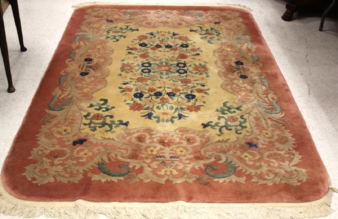 "CHINESE NICHOLS CARPET, 59"" X  92"""