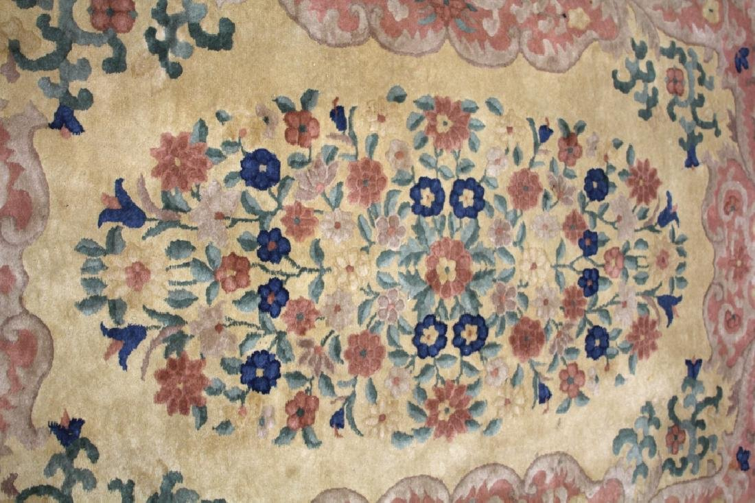 "CHINESE NICHOLS CARPET, 59"" X  92"" - 2"