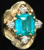 7.25 CT. COLUMBIAN EMERALD LADY'S 14KT RING